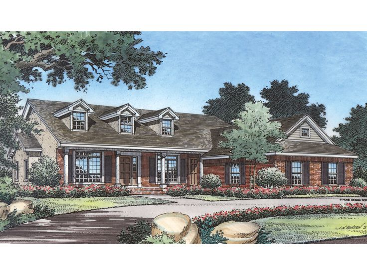 Country Ranch Home, 043H-0072