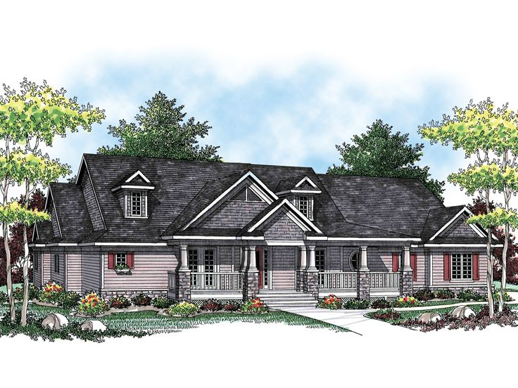 Country Home Plan, 020H-0190