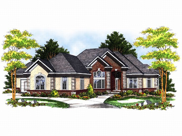 European House Plan, 020H-0073