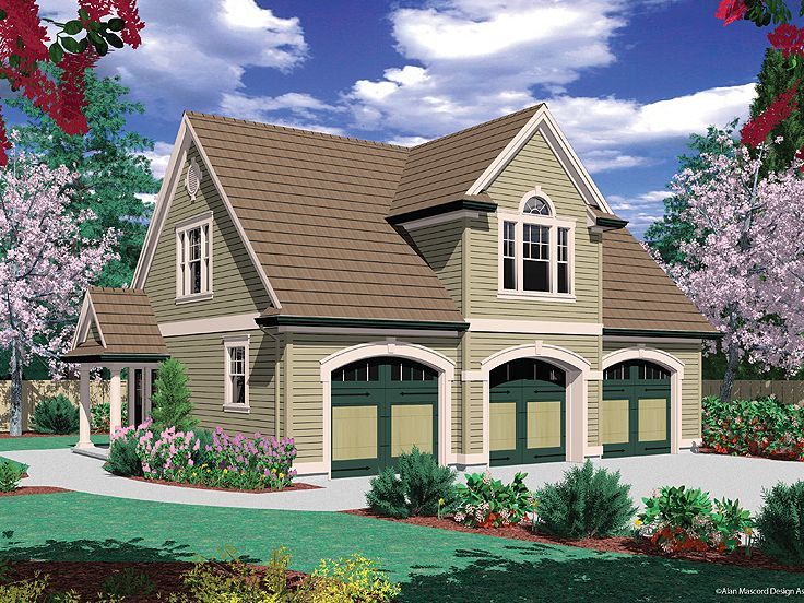 Carriage house plans carriage house plan with 3 car for Carriage home plans