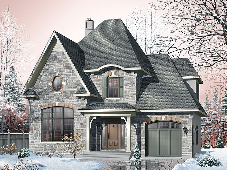 European House Plan, 027H-0163