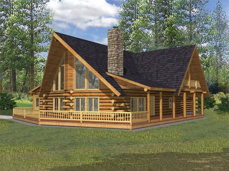 Log Home Plan, Left/Front, 012L-0046