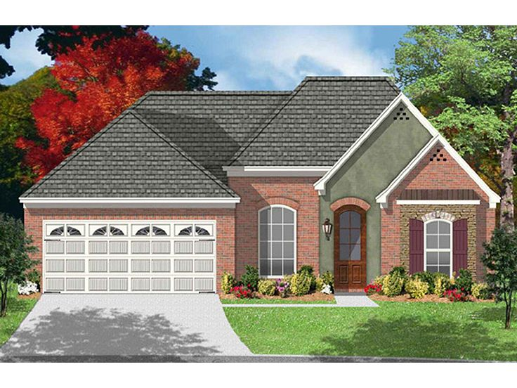 Plan 060h 0009 find unique house plans home plans and for 1 story brick house plans