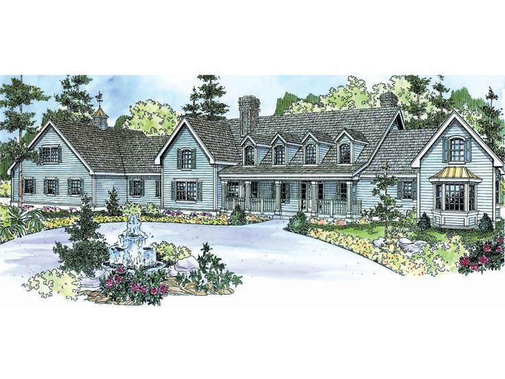 Premier Luxury Home Plan, 051H-0160