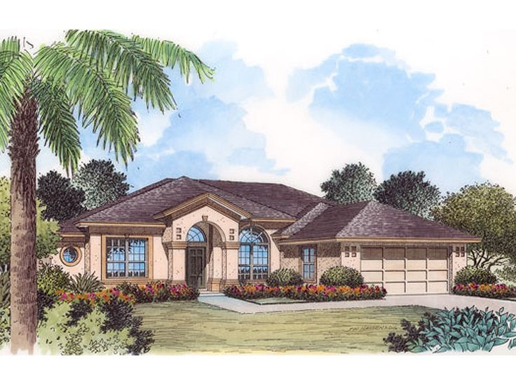 Sunbelt house plans one story sunbelt house plan with 4 for Sunbelt house plans