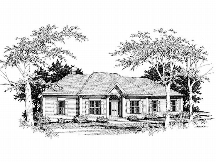 One-Story Home Plan, 007H-0035