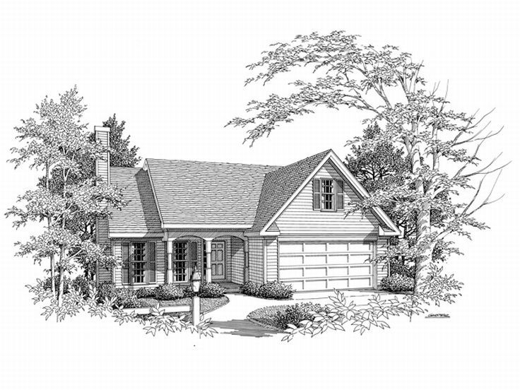 Ranch House Plan, 019H-0102