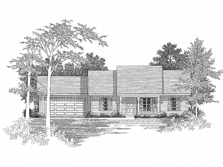 1-Story House Design, 019H-0053