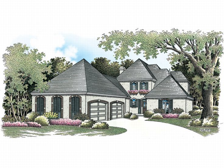 Sunbelt House Plan, 021H-0166