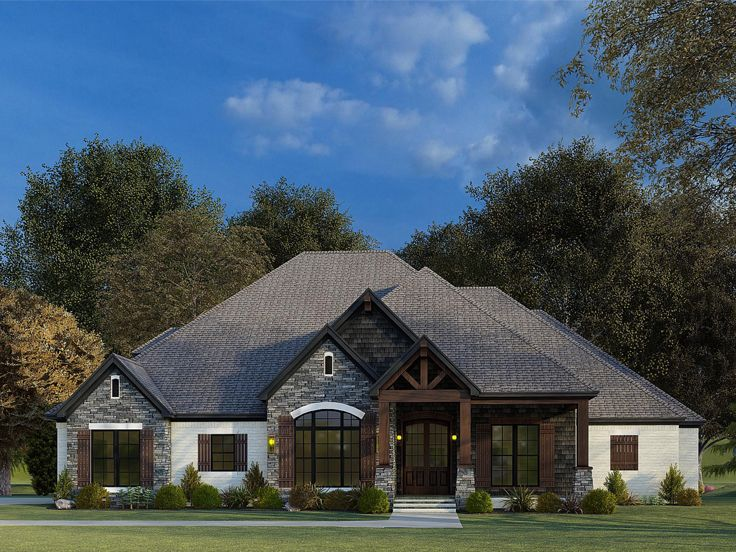 European House Plan, 074H-0137