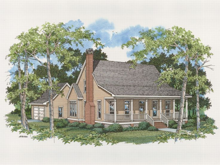 Country Home Plan, 030H-0040