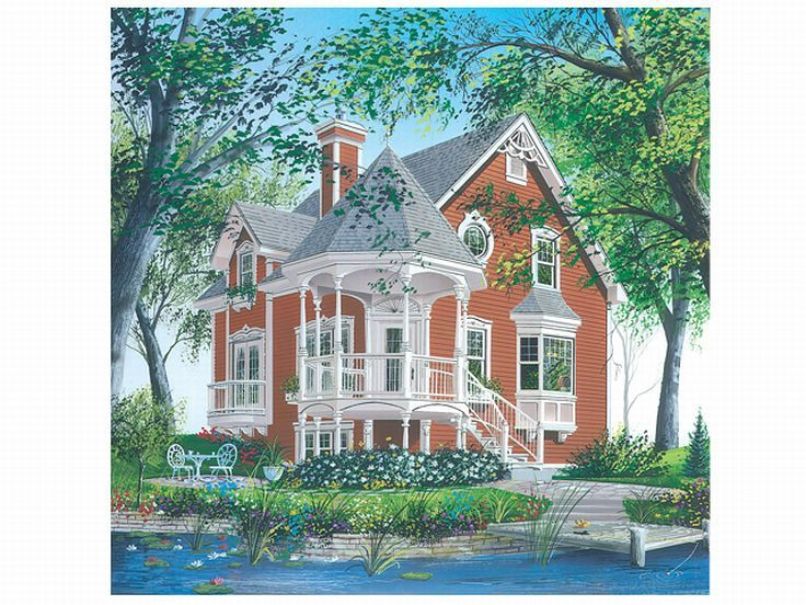 Victorian House Plan, 027H-0012