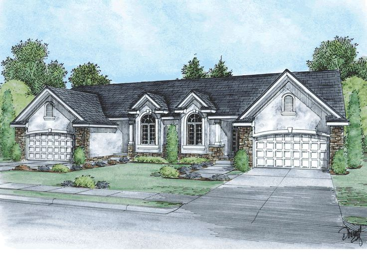 Duplex Home Plan, 031M-0047
