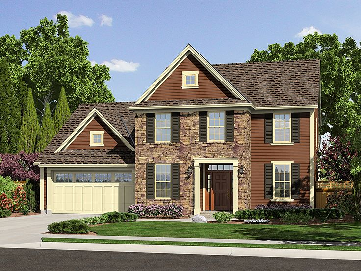 Two-Story Home Plan, 046H-0015