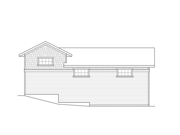 Rv garage plans rv garage plan with attached 2 car for House plans with attached shop