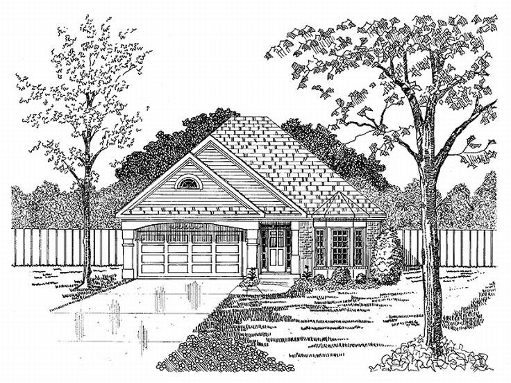 One-Story House Plan, 019H-0060