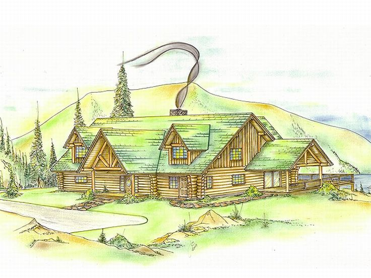 Log Home Design, 012L-0016