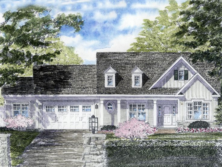 Cape Cod House Plan, 014H-0075