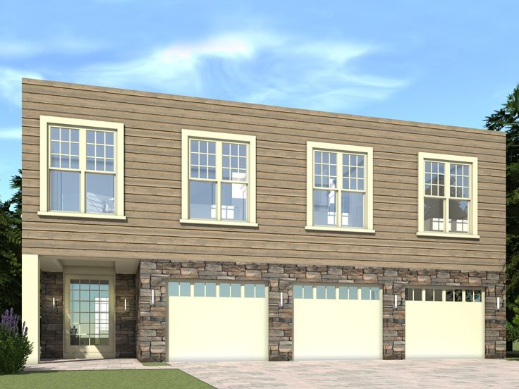 carriage house plans | modern 3-car carriage house design #052g-0008