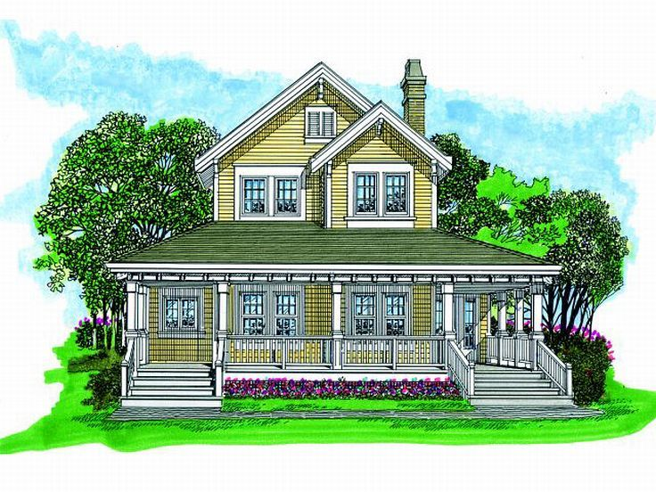 2-Story Home Plan, 032H-0096