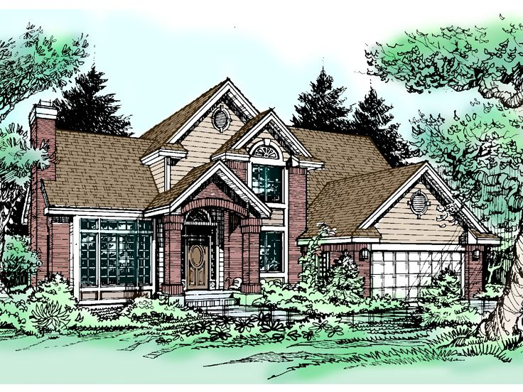 Two-Story Home Plan, 022H-0080