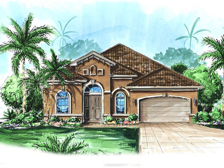 Florida Style House, 037H-0090
