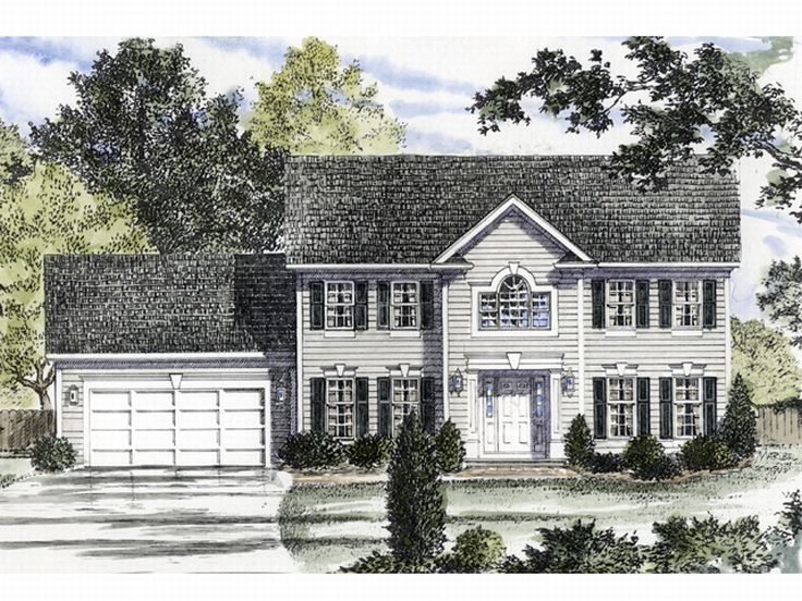 Colonial House Design, 014H-0057