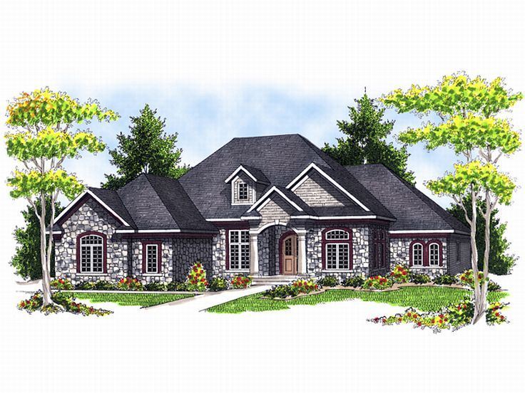 European House Plan, 020H-0106