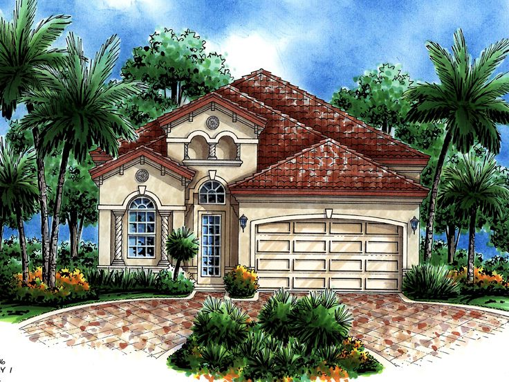 Narrow Lot Home Plan, 040H-0038