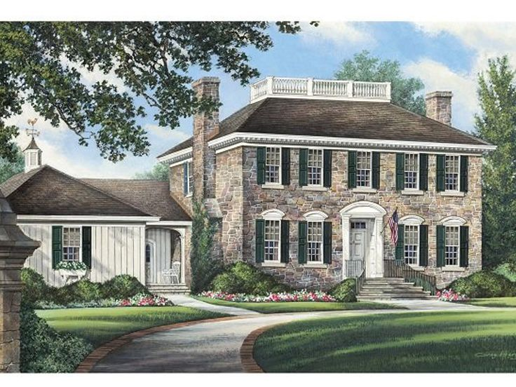 Colonial House Plan, 063H-0084