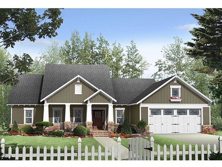 Craftsman Home Plan, 001H-0148