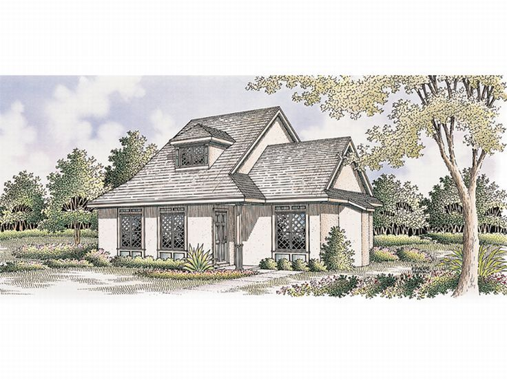 Cottage House Design, 021H-0012