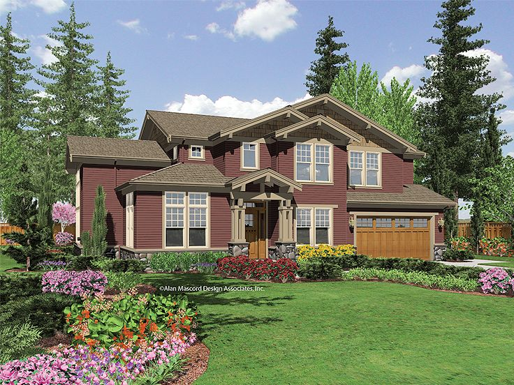 Craftsman House Design, 034H-0143