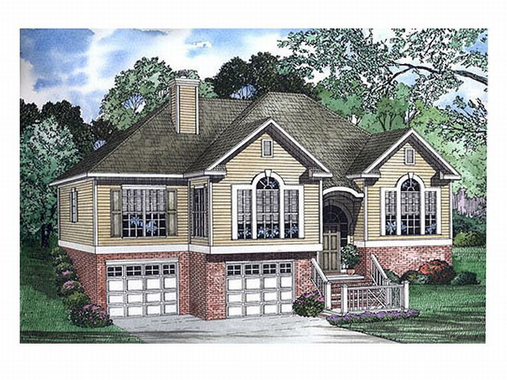 Split-Level House Plan, 025H-0093