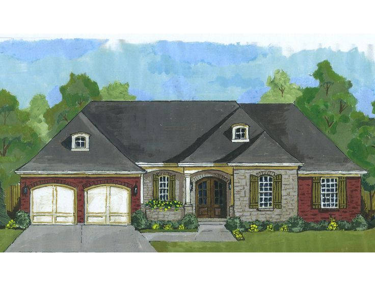 European House Plan, 046H-0096