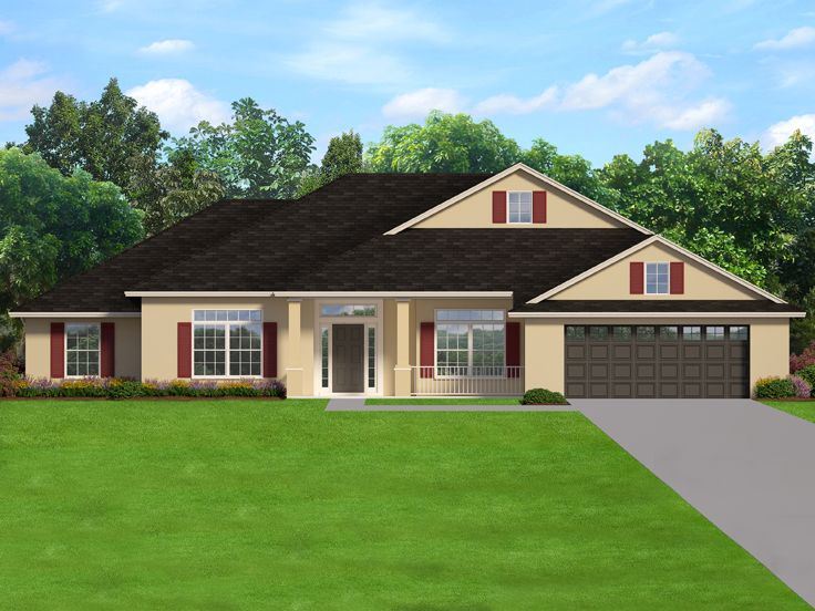 Ranch House Plan, 064H-0124
