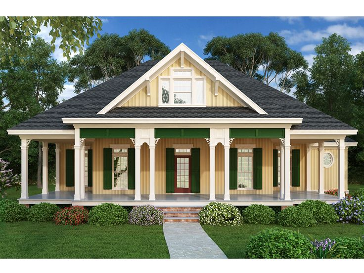 Southern house plans southern ranch house plan 021h for Southern style ranch home plans