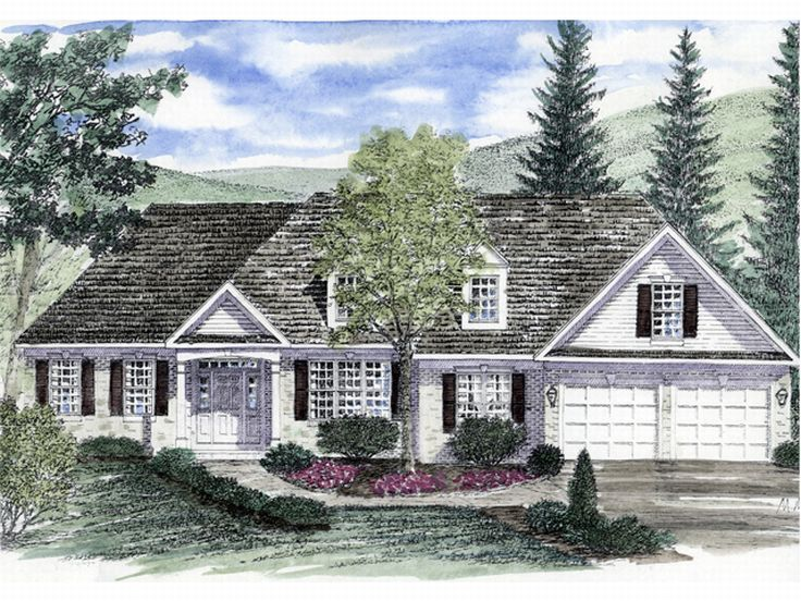 Traditional House Design, 014H-0017