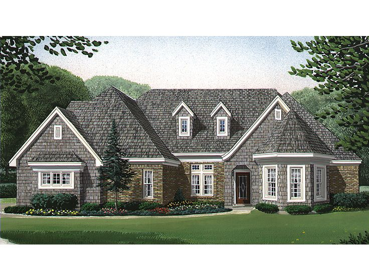 Two-Story House Plan, 054H-0053
