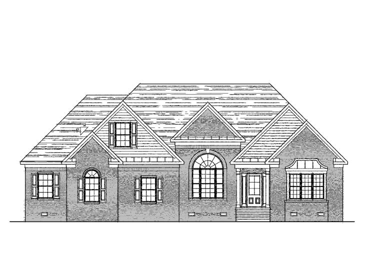Ranch Home Design, 058H-0052