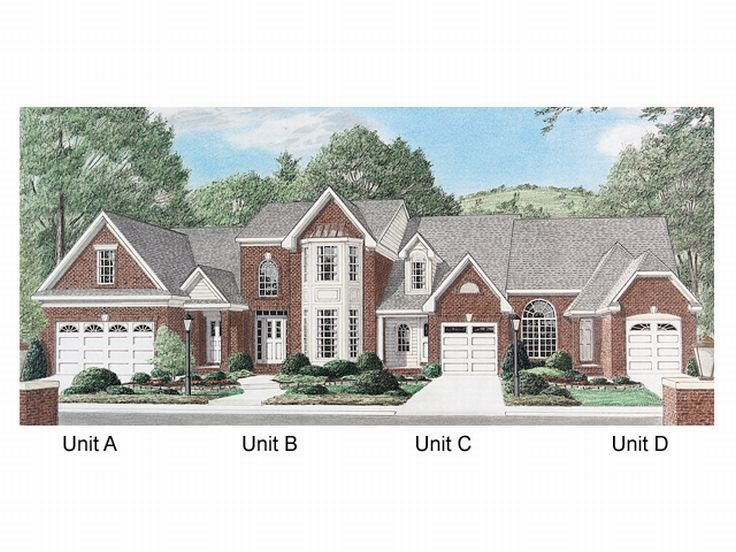 Plan 011m 0003 find unique house plans home plans and for 4 unit townhouse plans