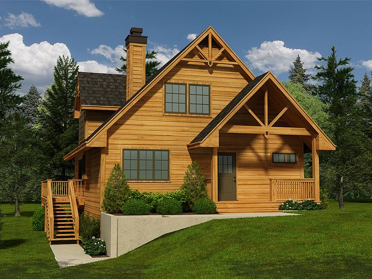 Mountain house plans mountain home plan with walkout for Mountain cottage house plans