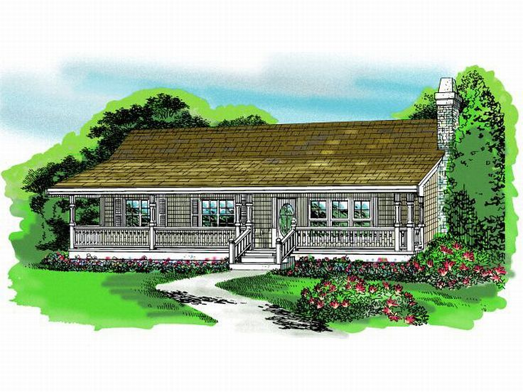 Ranch House Plan, 032H-0075