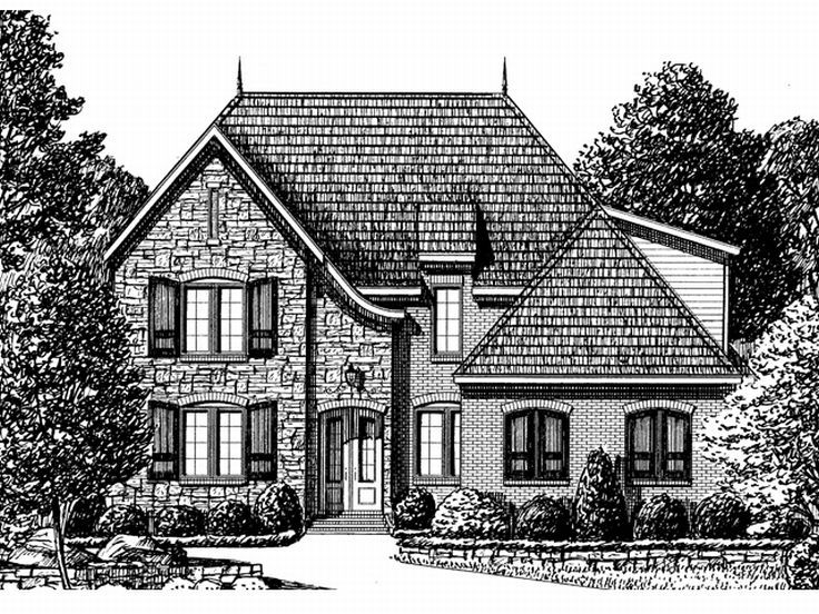 European House Plan, 011H-0043