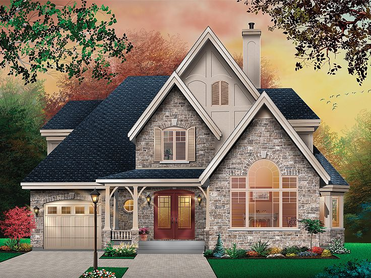 European House Plan, 027H-0341