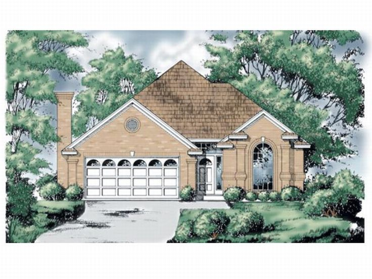 Narrow Lot Home Plan, 015H-0091