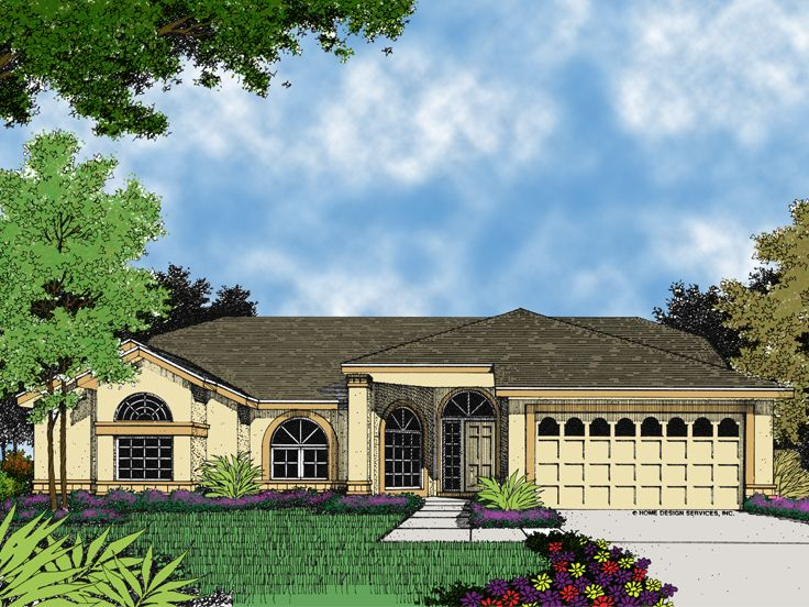 Sunbelt Home Plan, 043H-0067