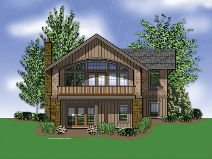 View lot house plans with pictures for House plans for rear view lots