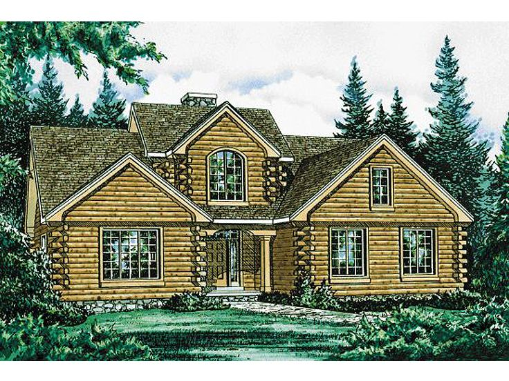 Log House Plan, 031H-0003