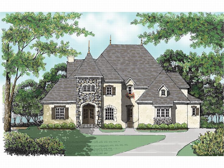 European Luxury Home, 029H-0076